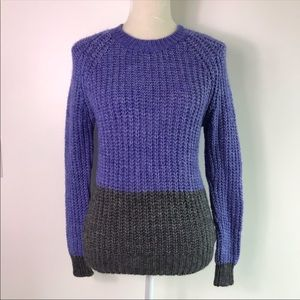 Madewell Wallace Two Tone Knit Sweater -G12